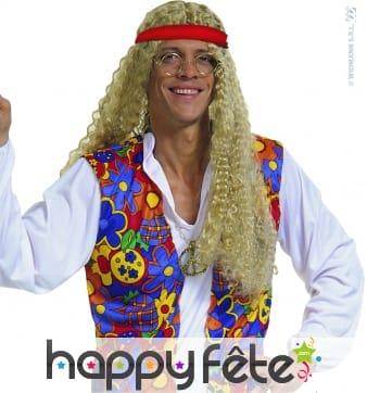 Perruque de hippie blonde
