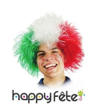 Perruque drapeau Italien