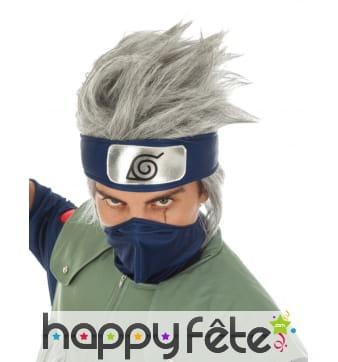 Perruque de Kakashi Hatake pour homme, Naruto