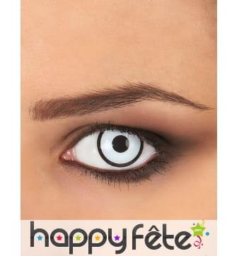 Paire de lentilles blanches contour noir