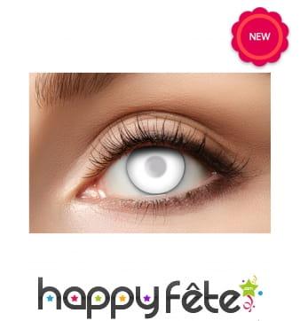 Paire de lentilles blanches semi-opaques