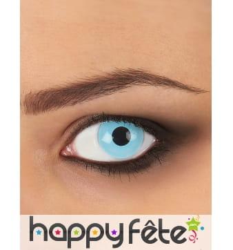 Paire de lentilles bleu glacé
