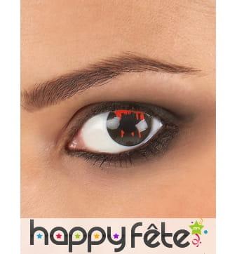 Paire de lentilles noire oeil blessé