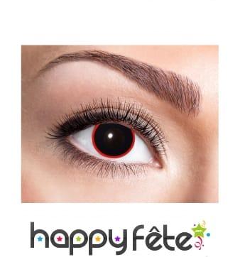 Paire de lentilles noires dans un cercle rouge