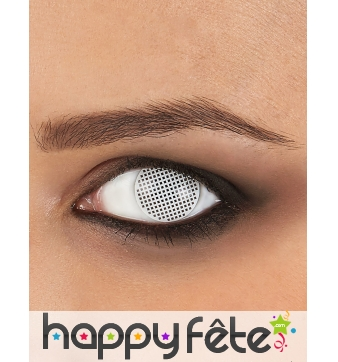 Paire de lentilles quadrillage blanc