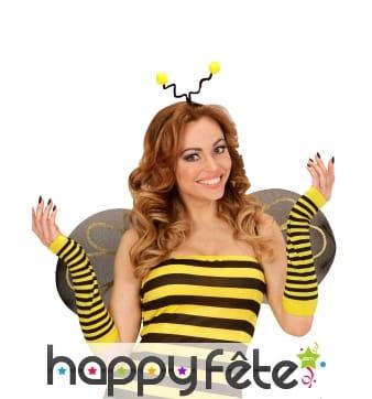 Paire de longues mitaines abeille