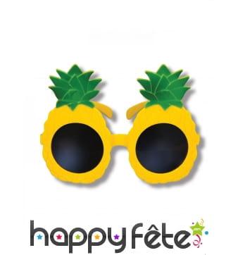 Paire de lunettes ananas pour adulte
