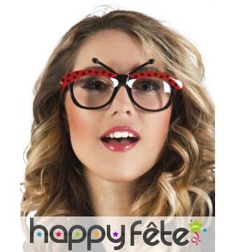 Paire de lunettes coccinelle