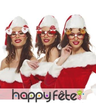 Paire de lunettes de Noël