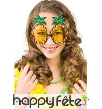 Paire de lunettes en forme d'ananas pour adulte