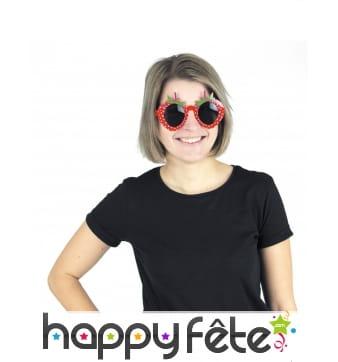 Paire de lunettes en forme de fraise pour adulte