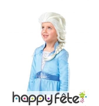 Perruque de La Reine des Neiges 2 pour enfant