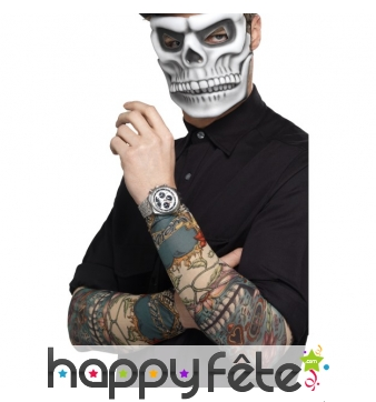 Paire de manches tatouées jour des morts