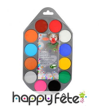Palette de maquillage 12 couleurs, Aquacolor