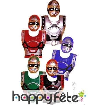Panoplie de masques et armures Biomans pour enfant