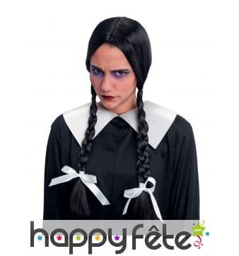 Perruque de Mercredi Addams pour femme