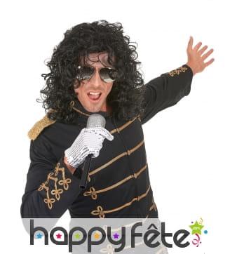Perruque de Michael Jackson bouclée