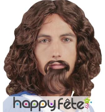 Perruque de mousquetaire avec barbe