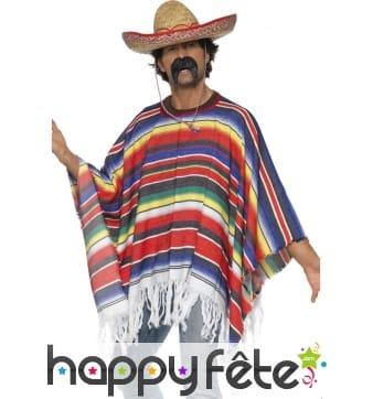 Poncho de mexicain rainbow