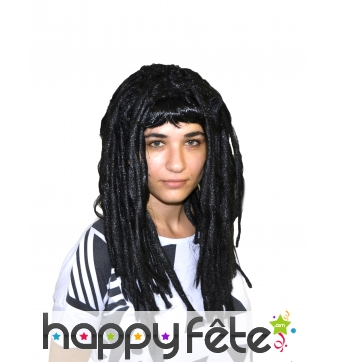 Perruque dreadlocks noires