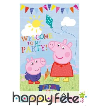 Poster de porte Peppa Pig