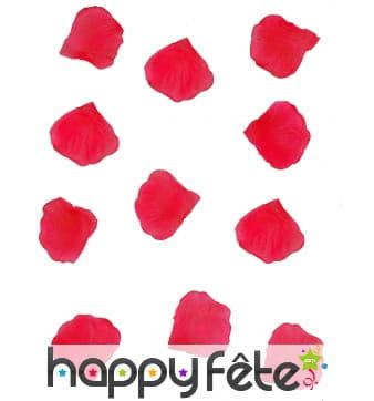 Pétales de rose rouge en tissu, par 150 ou 288