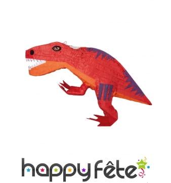 Piñata dinosaure rouge de 53 cm