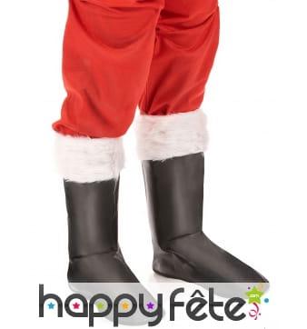 Paire de Sur-bottes de Père Noël en simili cuir