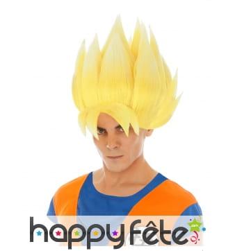 Perruque de Son Goku Super Saiyan pour homme