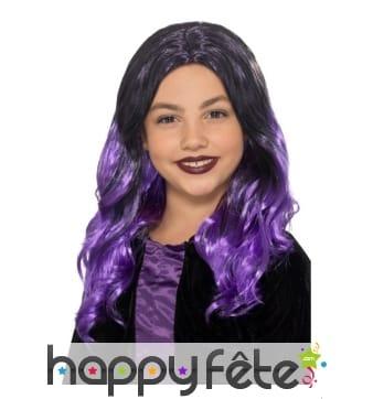 Perruque de sorcière violette pour enfant