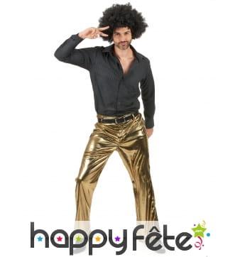 Pantalon doré uni pour homme