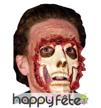 Postiche de visage squelette défiguré