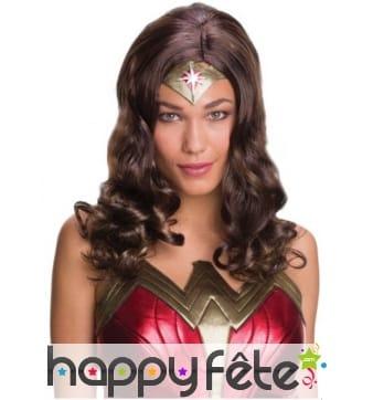 Perruque de Wonder Woman pour femme