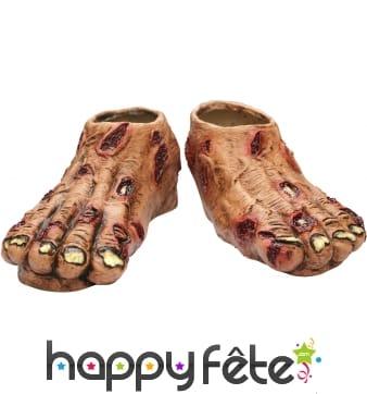 Pieds de zombie en latex