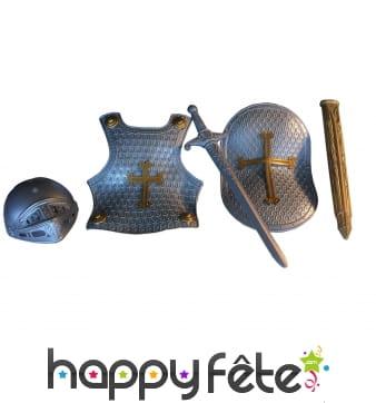 Plastron et accessoires de chevalier pour enfant