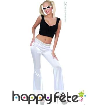 Pantalon extensible blanc pat def