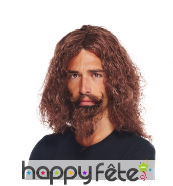 Perruque et barbe de d'artagnan