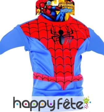 Plastron et cagoule de Spider-Man pour enfant