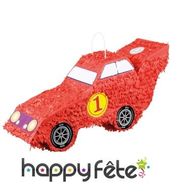 Pinata en forme voiture de course rouge 55 x 23 cm