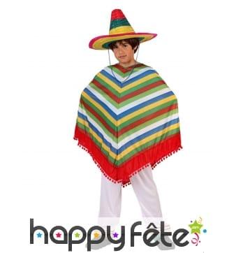 Pantalon et poncho mexicain pour garçon