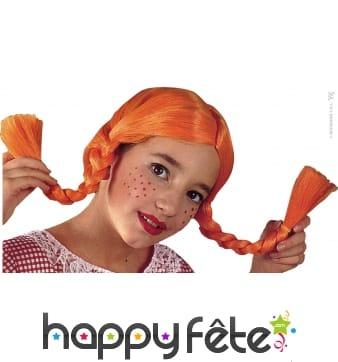 Perruque enfant tresses rousses Fifi