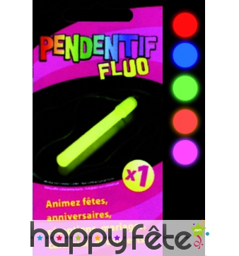 Pendentif fluo