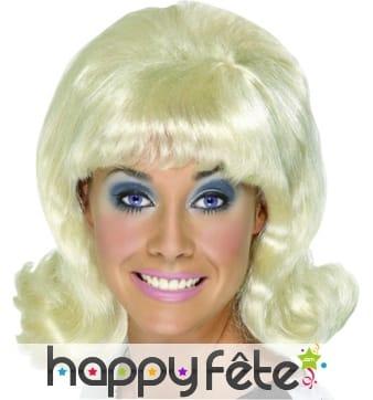 Perruque femme blonde des années 60