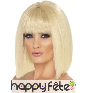 Perruque fille coquette blonde