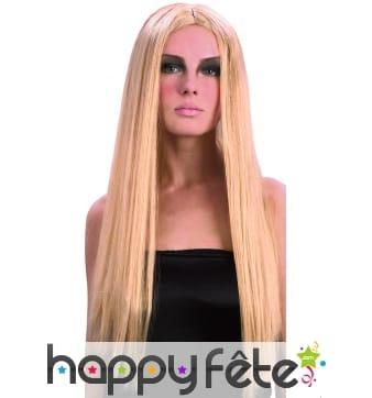 Perruque gothique blonde ignifugee