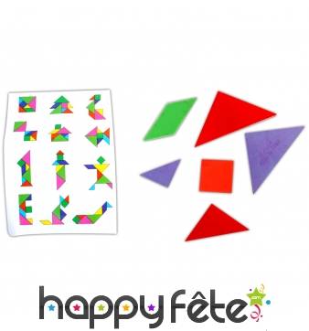 Puzzle géométrique de 7 pièces