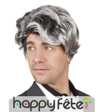 Perruque grise pour homme effet classique