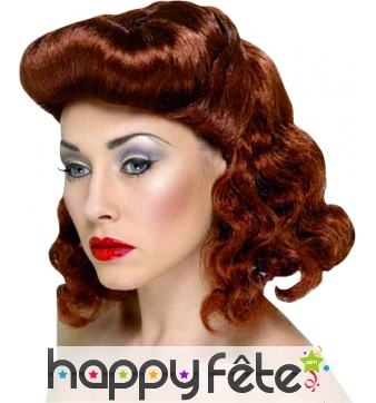 Perruque Grease rousse