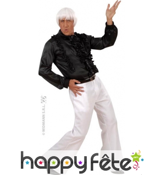Pantalon homme blanc disco