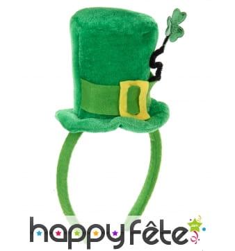Petit haut de forme Saint Patrick sur serre tête
